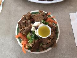 Salad with Pita Meat - Excellent !