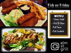 On Fridays during Lent, we feast...with Fish Menu — at At elm st. grill.