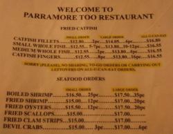 Parramore's Restaurant Too