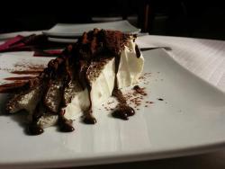 Tarta de mascarpone, trufa y chocolate