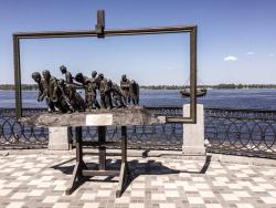 Sculptural Composition Barge Haulers on the Volga