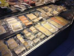 Large choice of cheeses