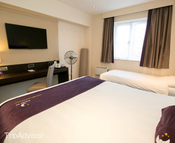 The Double Room With Extra Single Bed at the Premier Inn York North West Hotel