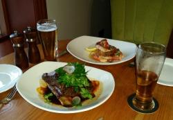Slow Cooked Beef & Pan Roasted Snapper