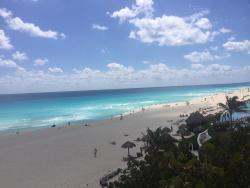 Views of beach from room in building 100
