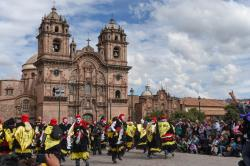 Festival in the town square of Cusco, Peru (175861421)