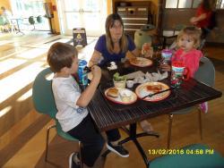 almuerzo a la llegada del primer dia