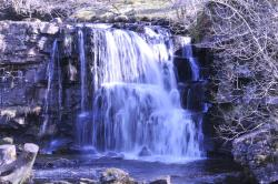 East Gill waterfall Keld people sometimes swim and paddle in summer