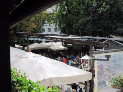 Partial view of the beergarden