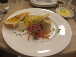 Smoked trout pate starter