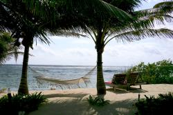Afternoon sun on the hammock outside our bungalow