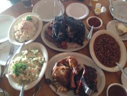 family style, plenty of food