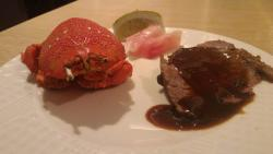 ローストビーフ(厚切り)、蟹、鯛