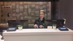 Sweet Lily at the front desk