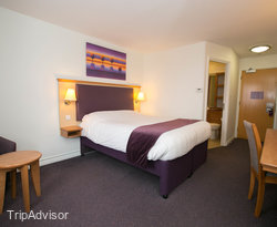 The Double Room at the Premier Inn Leeds East Hotel