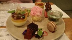 Dessert tasting plate - so pretty and so very tasty