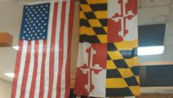 US & MD Flags