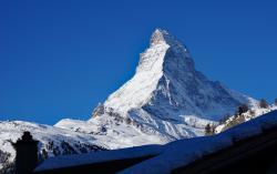 Aussicht vom Zimmerbalkon auf Matterhorn