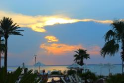 Sunset view from the pool area on the Santa Rosa Sound.