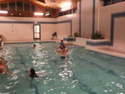 The indoor pool and rec area
