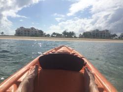 Resort view from kayak