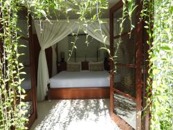 View into the bedroom from the garden, paradise!