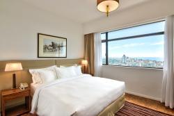Master Bedroom of the 2 Bedroom Deluxe Suite.