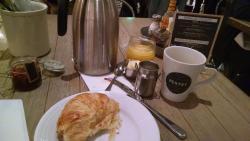 No café da manhã