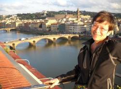 View of Florence from the restaurant