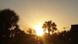 Nascer do sol desde o hotel