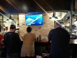 Flat screen, pizza & beer - oh my!