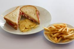 Every Tuesday free french fries with any sandwich