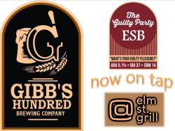 Gibb's Hundred The Guilty Party ESB, now on tap — at At elm st. grill.