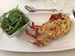 Delicious lobster Thermidor starter
