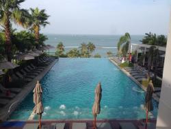 pool side facing the sea