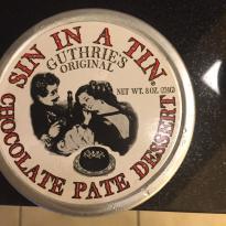 Sin in a Tin Chocolate Pate