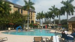 Outdoor pool! Massive in comparison to other nearby  hotels.