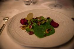 The leaves and the Foie under the Rain Is a light dish with a great variety of leaves, some of t
