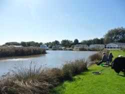 One of our beautiful fishing lakes where you can fish dusk till dawn