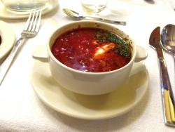 The beetroot soup.
