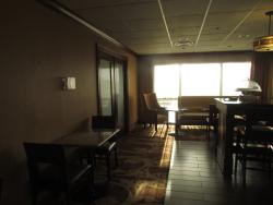 Another view of breakfast dining area