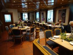 Part of the hotel restaurant