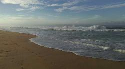 Next to silent beach