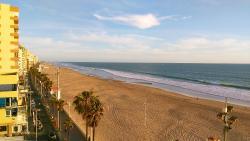 Sulla spiaggia con vista stupenda!