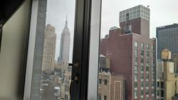 View from our room (with the Empire State Bldg)