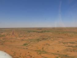 The small town of William Creek from the runway approach