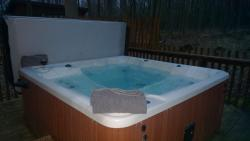 Hot tub on the decking.