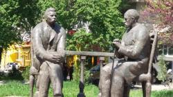 Monument to Sadriddin Aini and Maxim Gorky