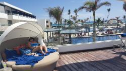 Lounging at the Mermaid Pool