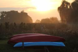 zons opkomst en de kano's